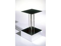 Tavolino quadrato in vetro a specchio Mobile 5-B - Ettore Sottsass Limited Edition
