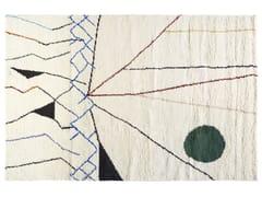 Tappeto rettangolare in lana a motivi geometrici MOBILE | Tappeto rettangolare - The Designers