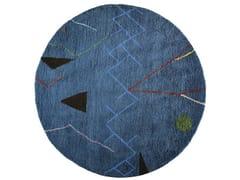 Tappeto rotondo in lana a motivi geometrici MOBILE | Tappeto rotondo - The Designers
