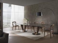 Tavolo rettangolare in legno e vetro MOBIUS | Tavolo rettangolare -