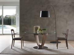 Tavolo in legno e vetro MOBIUS | Tavolo rotondo -
