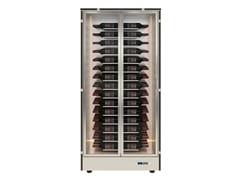 Cantinetta frigo per vini in alluminio con ante in vetroMOD 10 - EXPO