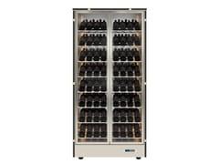 Cantinetta frigo per vini in alluminio con ante in vetroMOD 12 - EXPO