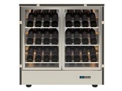 Cantinetta frigo per vini in alluminio con ante in vetroMOD 22 - EXPO