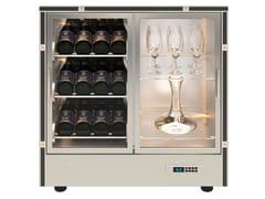 Cantinetta frigo per vini in alluminio con ante in vetroMOD 24 - EXPO