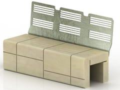 Panchina in pietra ricostruita MOD | Panchina con schienale - Mod