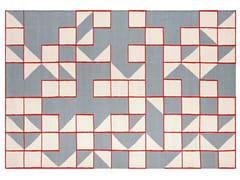 Tappeto fatto a mano rettangolare in lana a motivi geometriciMODICA BLUE - GAN BY GANDIA BLASCO