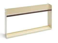 Portariviste in acciaio e legno per libreria ModulMODUL | Portariviste - ATELIER BELGE