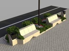 Panchina modulare in pietra ricostruitaMODULA 2 - MANUFATTI VISCIO