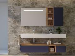 Mobile lavabo sospeso con cassettiCOMPONIBILE  16 - LEGNOBAGNO