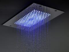 Soffione doccia a pioggia ultrapiatto in acciaio inox con cromoterapia MODULAR F2825 - Modular