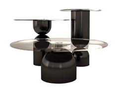 Tavolino rotondo in legno e vetroMOMA - ANA ROQUE INTERIORS