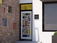 Porta d'ingresso in acciaio per esternoMONDRIAN - FABBRIDEA