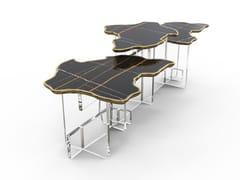 Tavolino con piano in marmo e base in acrilicoMONET XL - BOCA DO LOBO