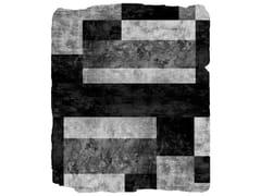Tappeto fatto a mano MONO W4 SILVER - Nordic Raw / Abstract Action