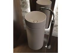 Lavabo freestanding rotondo in ceramicaMONOTWIN SLIM   Lavabo freestanding - CERAMICA FLAMINIA