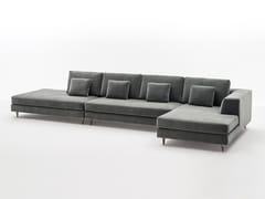 Divano componibile in tessuto con chaise longue MONTALE | Divano componibile - Milano Collection