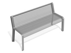 Panchina in acciaio con schienaleMOOD MST - METALCO
