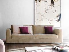 Divano imbottito in tessuto in stile moderno a 3 posti MOOD -