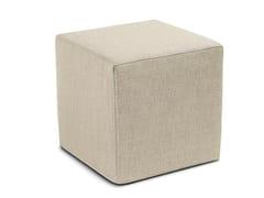 Pouf cubo in twill unito MOOMBA | Pouf quadrato - Winter Flame