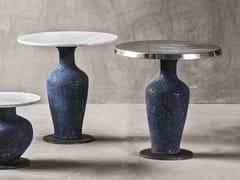 Tavolino rotondo in ceramica da salotto MOON 40 - Moon