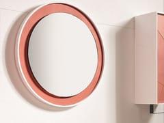 Acquabella, MOON Specchio rotondo in Akron© con cornice da parete