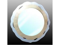 Specchio rotondo in acciaio con cornice da pareteMOON & MARS - FABER MOBILI