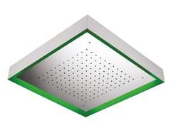 Soffione doccia a pioggia in acciaio inox con cromoterapia MOON SOFCRT911000 - Cromoterapia