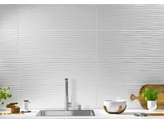 Rivestimento tridimensionale in ceramica a pasta bianca per interniMORE BEND - RECER