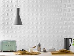 Rivestimento tridimensionale in ceramica a pasta bianca per interniMORE IKON - RECER