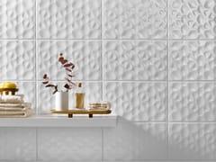 Rivestimento tridimensionale in ceramica a pasta bianca per interniMORE PURE - RECER