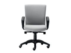 Sedia ufficio girevole imbottita in tessuto con braccioliMOREA COMFORT | Sedia ufficio con braccioli - VAGHI