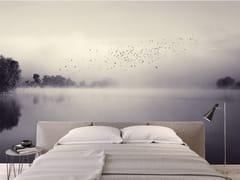 Carta da parati panoramica in JET TEX con paesaggiMORNING MINST - ACTE DECO