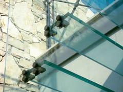 Metalglas Bonomi, Morsetto Sistema di ancoraggio / Morsetto in acciaio satinato