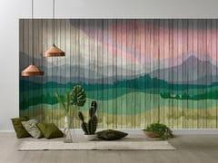 Architects Paper, MOUNTAINS Carta da parati effetto legno stampata in digitale con paesaggi