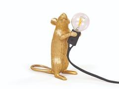 Lampada da tavolo a LED in resinaMOUSE LAMP GOLD - STEP - SELETTI