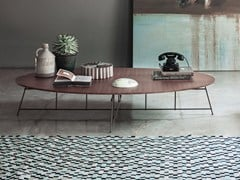 Tavolino ovale in legnoMR. ZHENG | Tavolino - LEMA