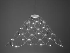 Lampada a sospensione a LED a luce diretta in acciaio MRS LAMOI - Lamoi