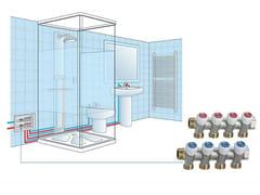 Collettore in ottone con rubinettiMULTIPLEX - EMMETI