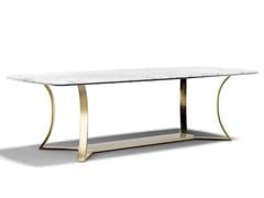Tavolo rettangolare in marmo e metalloMUST R | Tavolo in marmo - CAPITAL COLLECTION IS A BRAND OF ATMOSPHERA