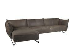 Divano a slitta in Dacron® con chaise longueMY HOME | Divano con chaise longue - JESS DESIGN
