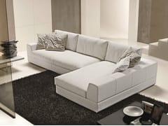 Divano componibile in tessuto con chaise longueMY WAY | Divano in tessuto - FORMER IN ITALIA