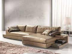 Divano componibile in pelle con chaise longueMY WAY PLUS | Divano con chaise longue - FORMER IN ITALIA