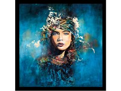 Quadro in poliestereMYSTERIOUS BLUE WOMAN - MONDIART INTERNATIONAL