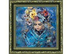 Quadro in poliestereMYSTERIOUS FLORAL WOMAN - MONDIART INTERNATIONAL