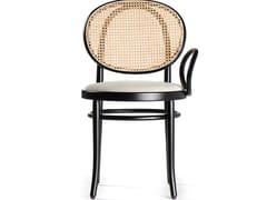 Sedia in legno con schienale in paglia di Vienna e braccioloN.0 | Sedia - WIENER GTV DESIGN