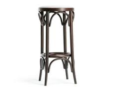 Sgabello alto da bar in legno N° 73   Sgabello con cuscino integrato -