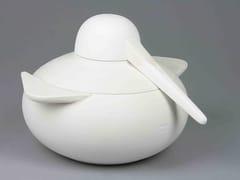 Zuppiera in ceramica smaltata con mestoloNADER - MIKRODESIGN