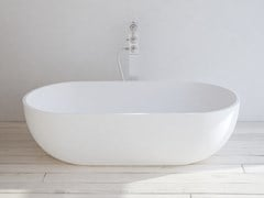 Vasca da bagno ovale in Solid Surface NANTES -