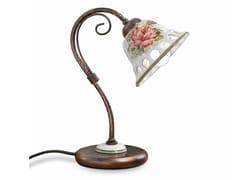 Lampada da tavolo in ceramica con braccio fissoNAPOLI | Lampada da tavolo - FERROLUCE